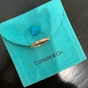 Auth Tiffany Bezet Rose Gold Diamond Band